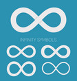 infinity symbols set different shapes for vector image