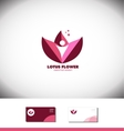 Lotus flower water lilly logo icon vector image vector image