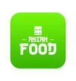 menu asian food icon green vector image