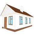 new house with brown door vector image vector image