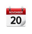 November 20 flat daily calendar icon vector image vector image