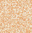 Orange square pixel mosaic background vector image vector image