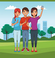 people and smartphone vector image vector image