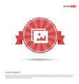 picture icon - red ribbon banner vector image vector image