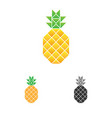 pineapple logo template fruit logotype vector image vector image