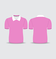 pink polo t shirt vector image vector image