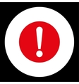 Problem flat red and white colors round button vector image vector image