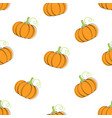 pumpkin vegetable seamless background vector image