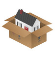 real-estate moving house packing box vector image