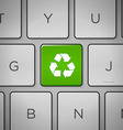 Recycle Sign Keyboard vector image vector image