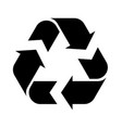 recycle symbol isolated on a white background vector image vector image