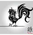 rooster bird tattoo chinese new year rooster vector image