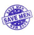 scratched textured save men stamp seal vector image vector image