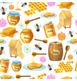 seamless honey background vector image