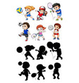 set of athlete character vector image vector image