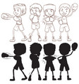 set of boxer character vector image