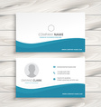 simple clean business card vector image vector image