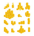 slides gold dollars isolated cartoon set vector image vector image