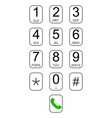 smartphone keypad dialer with buttons user vector image vector image