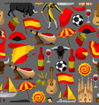 spain seamless pattern spanish traditional vector image vector image