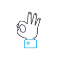 successful activity thin line stroke icon vector image