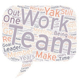 Team Work No Thanks text background wordcloud vector image vector image