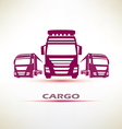truck outlined symbol vector image vector image