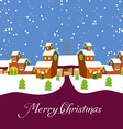 Village Holiday Card vector image
