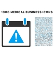 Warning Calendar Day Icon With 1000 Medical vector image vector image