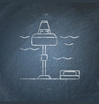 wave energy station chalkboard sketch vector image