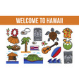 welcome to hawaii promo banner with country vector image vector image