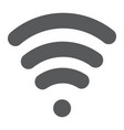 wi-fi glyph icon wireless and communication vector image vector image