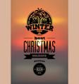winter time typographic retro christmas design vector image