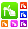 women shoe set collection vector image vector image