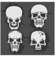 Cartoon skulls design vector image