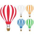 set hot air balloon icon vector image