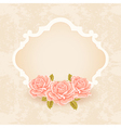 Vintage Floral background greeting card template vector image