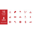15 wallpaper icons vector image vector image