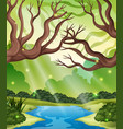 a nature forest landscape vector image vector image