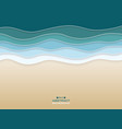abstract of coast sea wavy blue water color vector image vector image