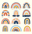 abstract rainbow scandinavian graphic curved vector image vector image