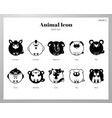 animal icon solid pack vector image
