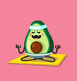 avocado doing stretching or yoga vector image vector image
