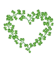 Beautiful Fresh Green Leaves in A Beautiful Heart vector image vector image