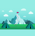 beautiful mountain landscape hiking in the vector image