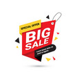 big sale banner special offer template tag with vector image vector image