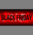 black friday lettering with black liquid droplets vector image vector image