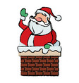 cartoon santa claus for your christmas in chimney vector image vector image