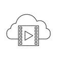 cloud computing film movie video internet vector image vector image