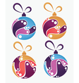 collection of Christmas balls and decoration vector image vector image